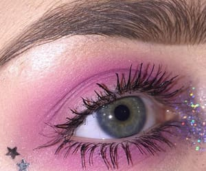 aesthetic, eyes, and pink image