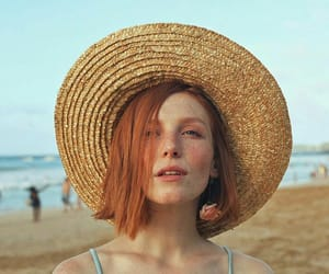 beach, beauty, and ginger image