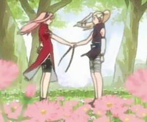 anime, sakura, and gif image