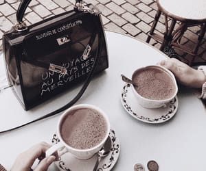 coffee, purse, and drink image