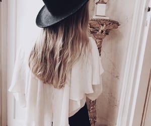 blonde hair, long hair, and boho image