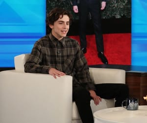 timmy, the ellen show, and timothee chalamet image