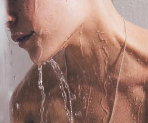 boy, skin, and water image