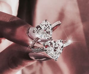 diamond, rose gold, and expensive image
