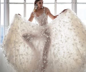 bridal gown, haute couture, and dress image
