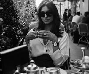 black and white, blackandwhite, and cafe image
