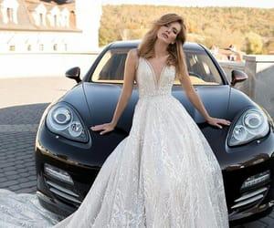 black, bride, and car image