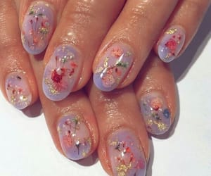 nails, aesthetic, and flowers image