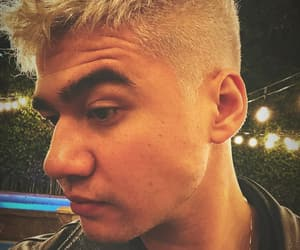 blonde, calum hood, and hairstyle image