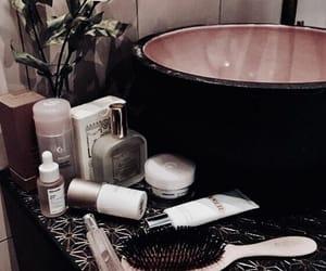 bathroom, makeup, and skincare image