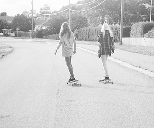 black and white, bestfriends, and girls image