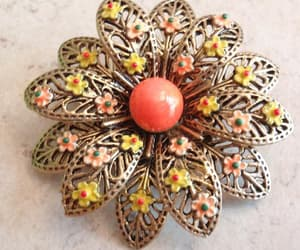 etsy, modeart, and floral brooch image