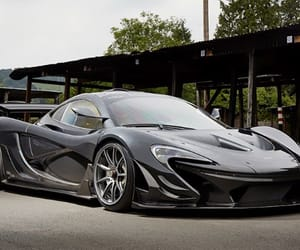 black, car, and mclaren image
