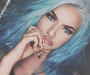 azul, style, and blanco image