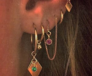 gold, accessories, and earrings image