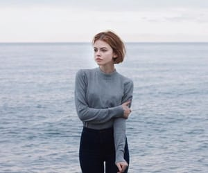 beach, red hair, and clothes image