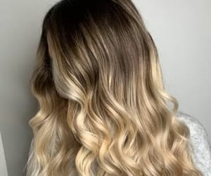 blonde hair, girl, and salon image