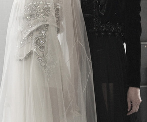backstage, black & white, and bridal image