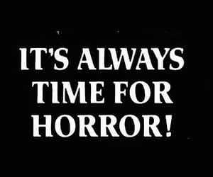 horror, quotes, and eyebrows image