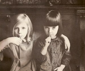 little girl and friends image