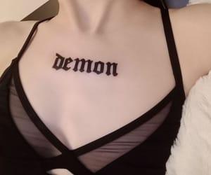 black, demon, and girl image
