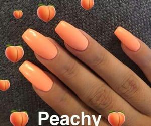 nails, girl, and orange image