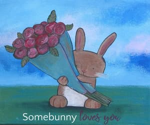 art, bunny, and etsy image