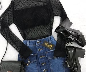 beautiful, outfit, and black shirt image
