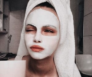 beauty, face mask, and fashion image