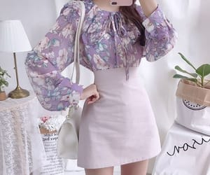 korean fashion, fashion, and outfit image