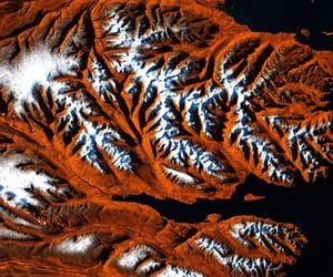 aerial photography, iceland, and landscape image