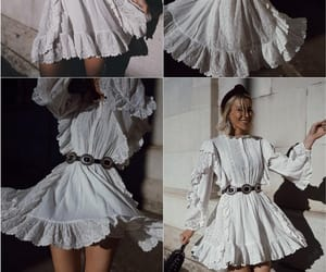 outfit, style, and white dress image