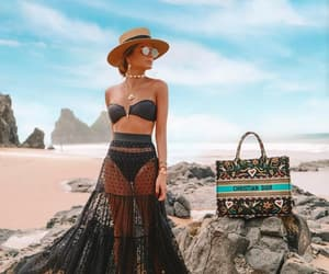 accesories, hat, and beachwear image