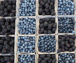 food, blue, and fruit image