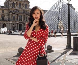 fashion, mini dress, and polka dots image