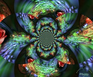 colors, crystal, and fractalius image