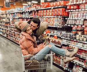couple, goals, and supermarket image