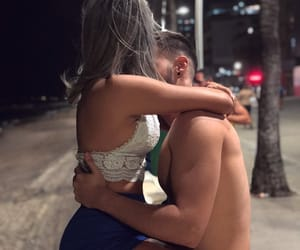 beautiful, fitness, and kissing image