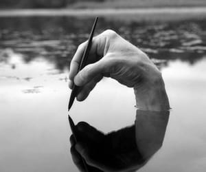 hand, photography, and black and white image