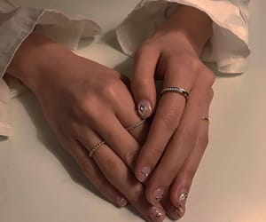 jewels, nail polish, and nails image