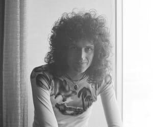70s, b&w, and Freddie Mercury image