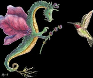 art, dragons, and drawing image