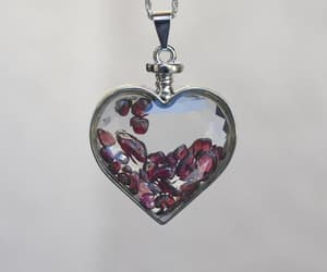 vintage heart, etsyseller, and floating garnets image
