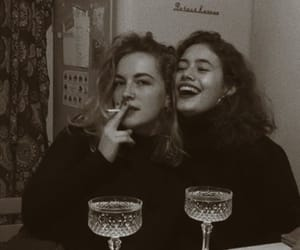 girls, friends, and vintage image