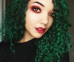greenhair, coloredhair, and lunartides image