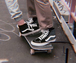 vans, grunge, and couple image