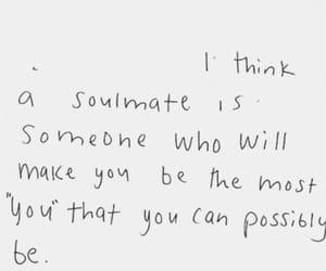 quotes, words, and soulmate image