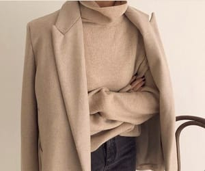fashion, coat, and jeans image