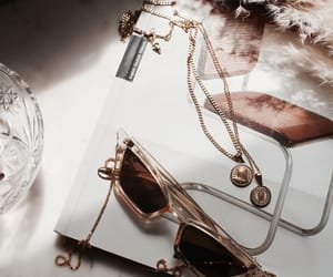 jewelry, gold, and sunglasses image
