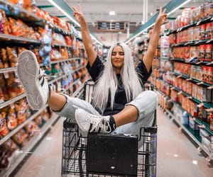 cart, fashion, and grocery store image